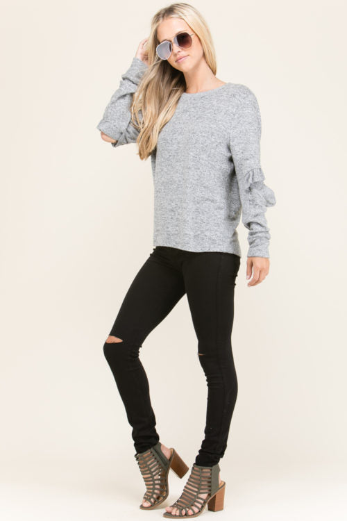Open-Elbow Sweater