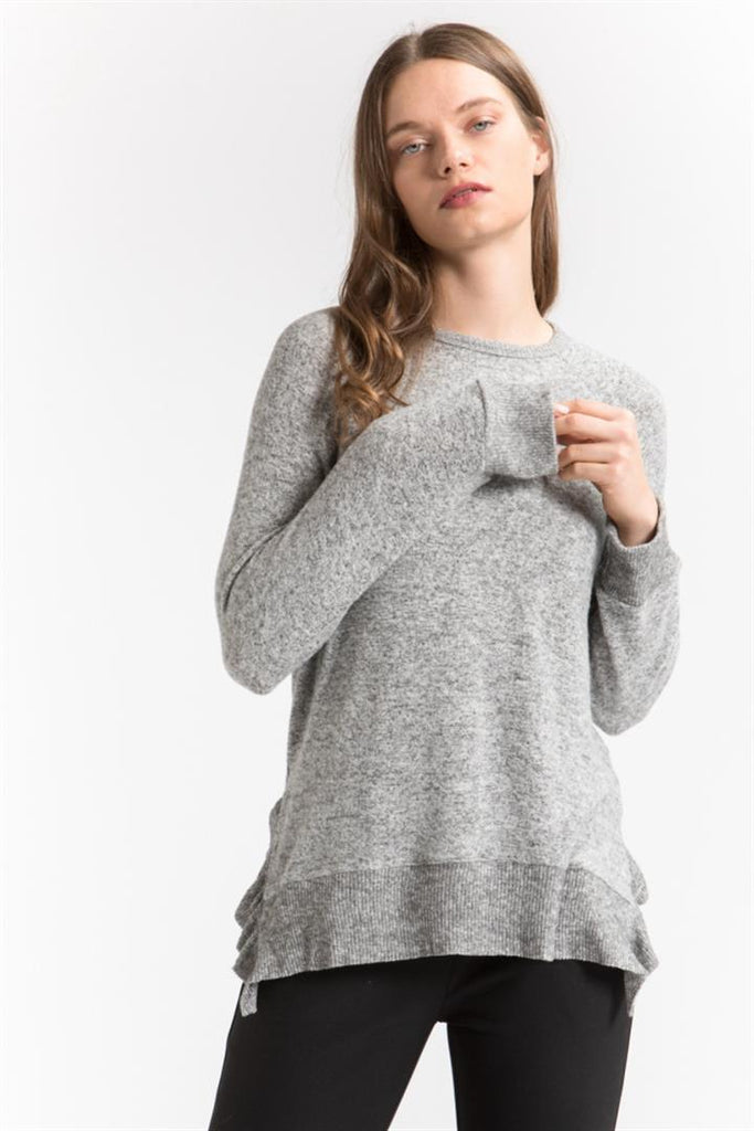Ruffle Rib Sweater