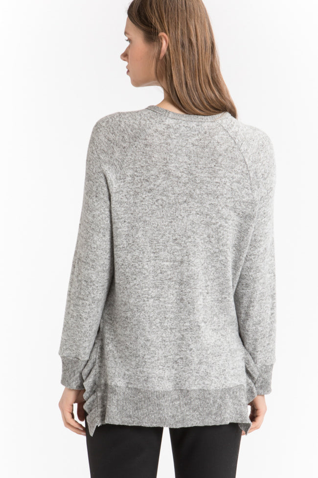 Ruffle Rib Sweater - shopcoa