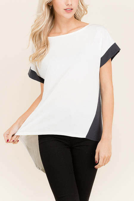 Cutout Side Twisted Top