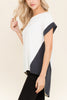 High Low Color Block Short Sleeve