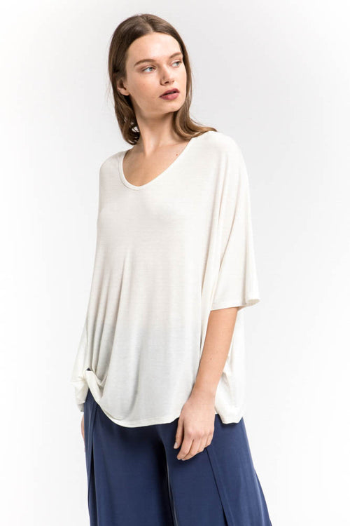 Side Knot Relaxed Top