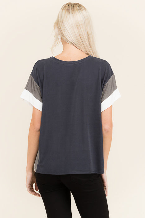 Color Block Short Sleeve