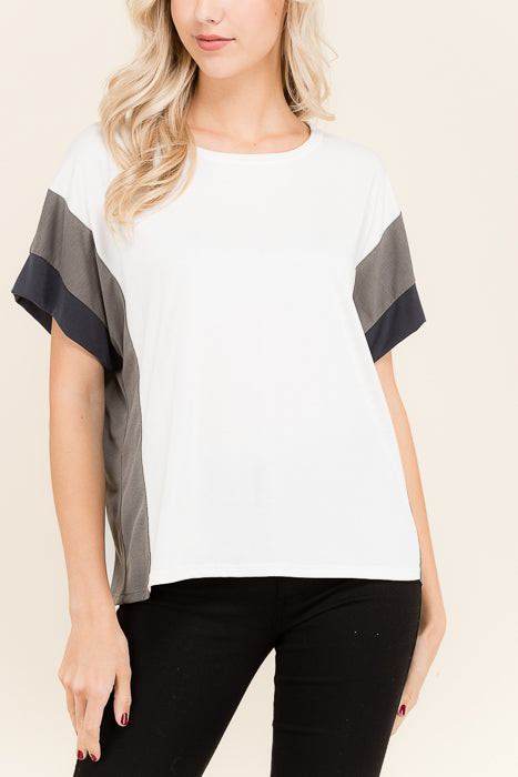 Color Block Short Sleeve - shopcoa