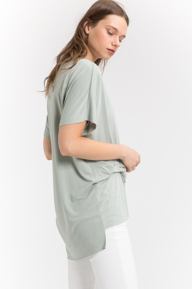 Side Fold Short Sleeve Top