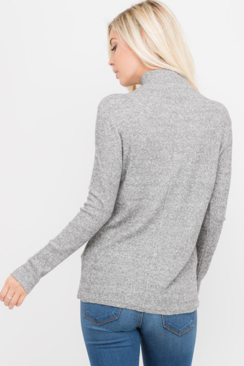 Linear High Neck Sweater