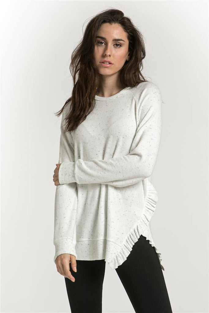 One Side Ruffle Detailed Pullover