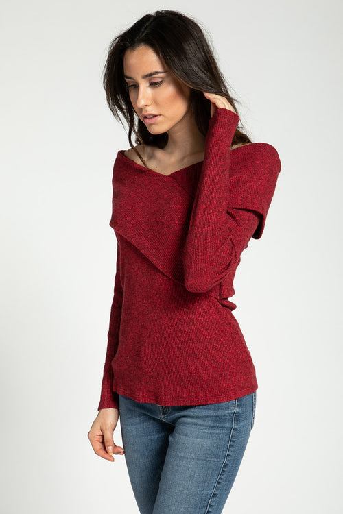 Crossover Rib Sweater