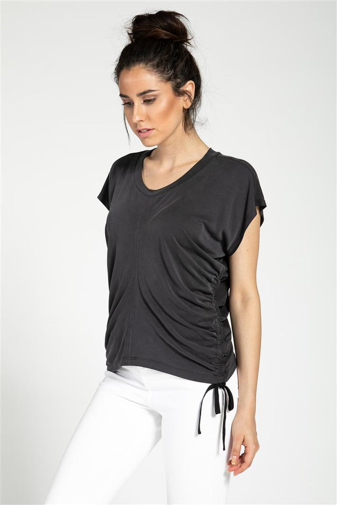 Side Cinched Ctr Cut Top
