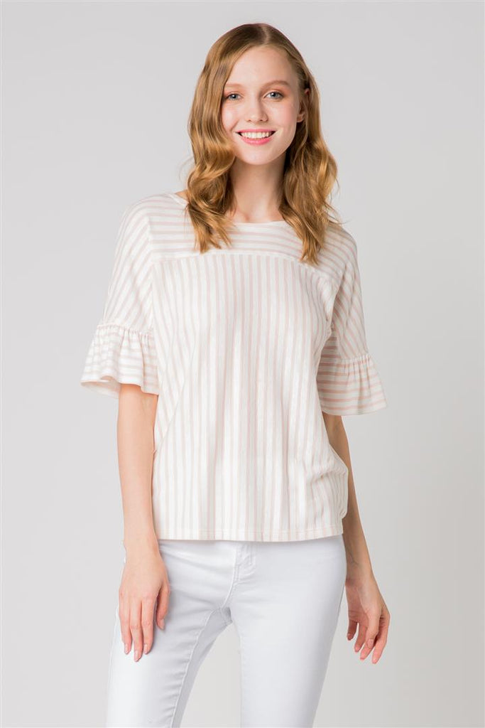 Structured Ruffled Top
