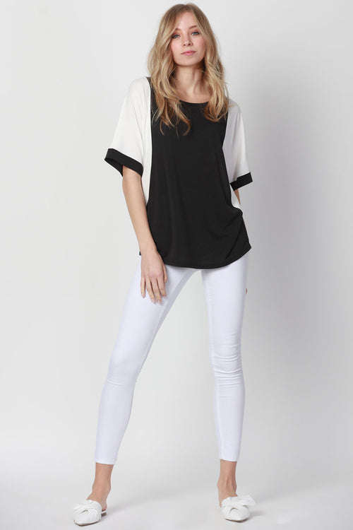Contrasted Dolman Top