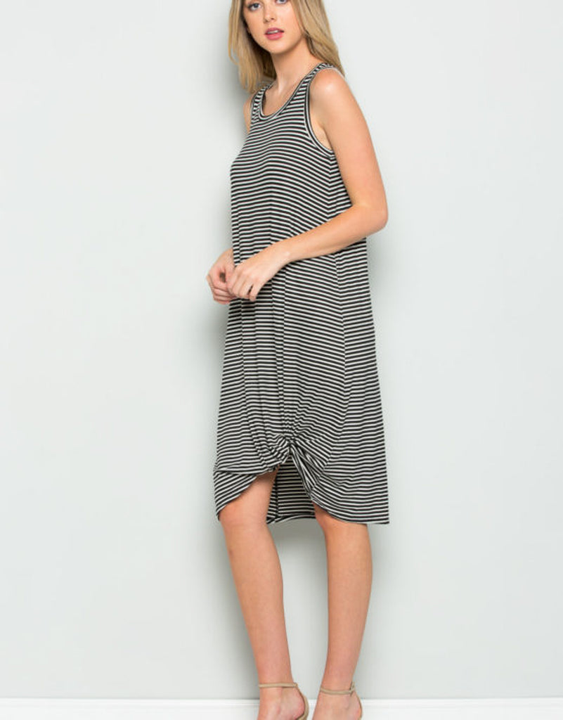 Side Knotted Tank Dress