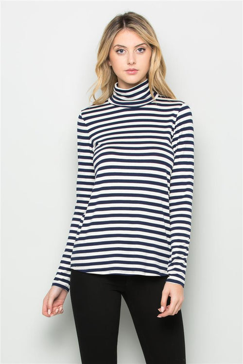 Stripe Turtleneck - shopcoa