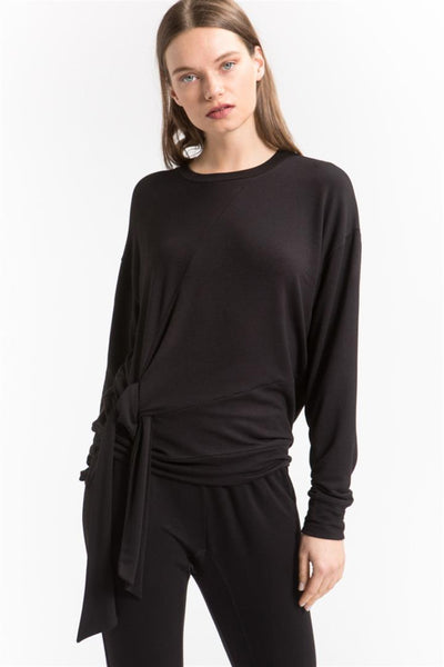 Side Tie Sweater - shopcoa