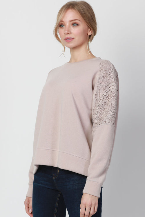 COTTON CLUNY EMBELLISHED SWEATSHIRT