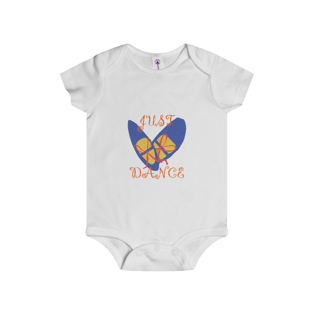 Infant Rip Snap Onesie: Blue Dance Shoes