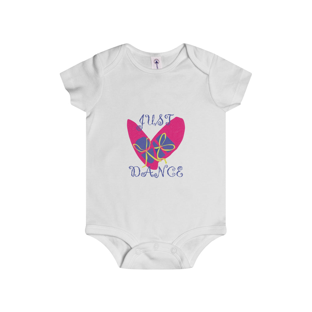 Infant Rip Snap Onesie: Pink Dance Shoes