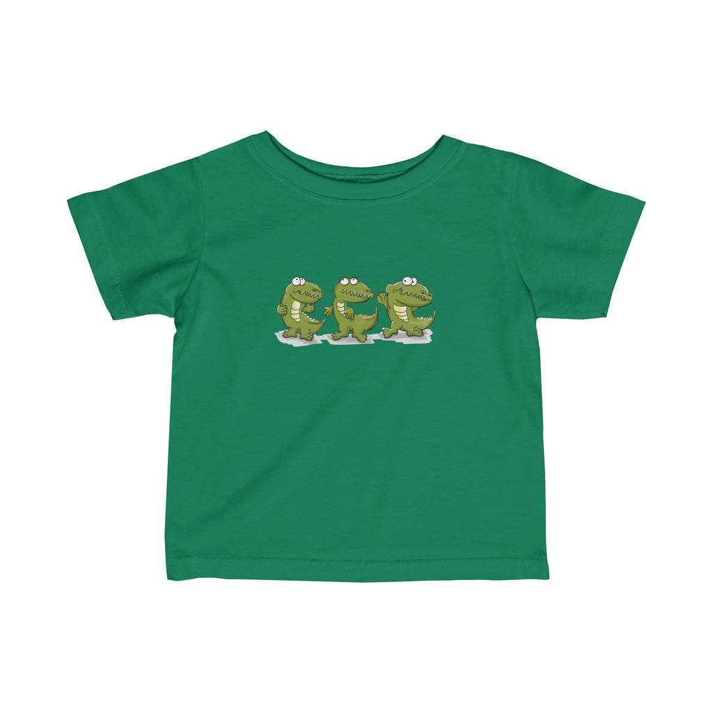 Infant Fine Jersey Tee: Dancing Crocs