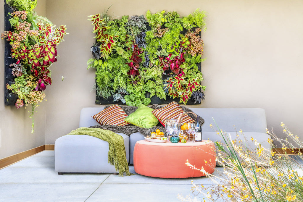 Autumn Fireside Patio Living Walls