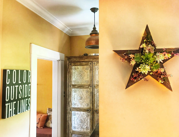 Succulent Star Wall Art