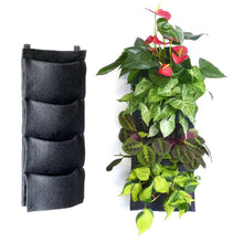 4-pocket vertical felt garden planter