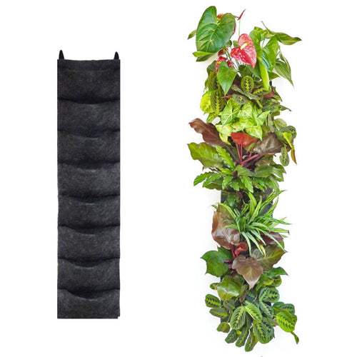 8 pocket felt vertical garden planter