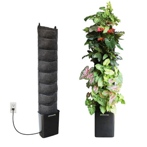 8 pocket pump irrigation vertical garden planter