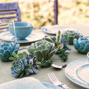 Ceramic Succulent Tea Light Holders