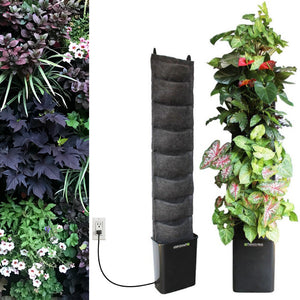 English Garden Leafy Living Wall - 8 pocket compact indoor planter