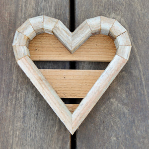 Redwood Heart Frame Succulent Planter - Small
