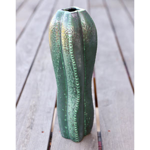 Large Ceramic Cactus Vase on deck