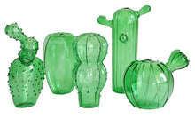 Quirky Cactus Vase Group - Lime Glass