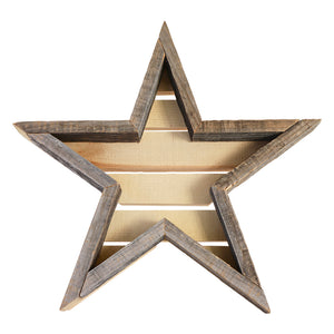 Star Wood Frame - white background