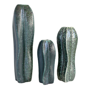 Cactus Vase Set of 3 Grouping