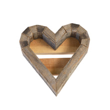 Small Wood Heart Frame - white background