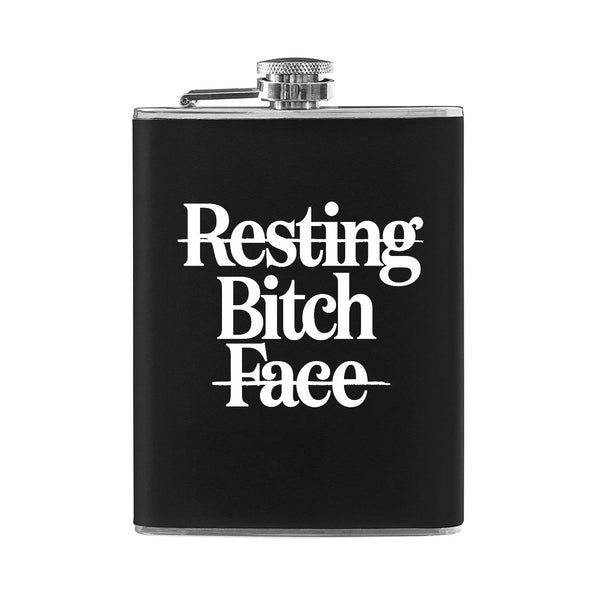 Resting Bitch Face 8 OZ. Flask