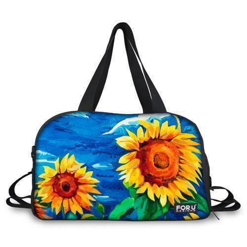 3D YOGA MAT BAG - SUNFLOWERS - Badass Yoga Gear