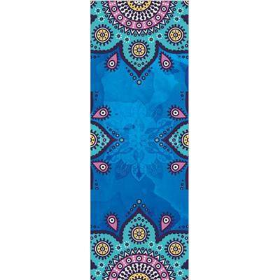 AZURE LOTUS YOGA MAT TOWEL - Badass Yoga Gear