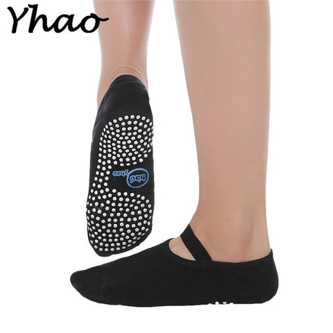 BLACK COTTON ANTI-SLIP YOGA SOCKS - Badass Yoga Gear