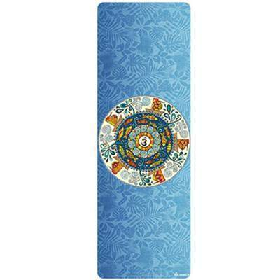 BRIGHT BLUE FOLDABLE MAT TOWEL - Badass Yoga Gear
