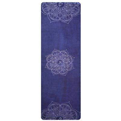 DARK BLUE LOTUS YOGA MAT TOWEL - Badass Yoga Gear