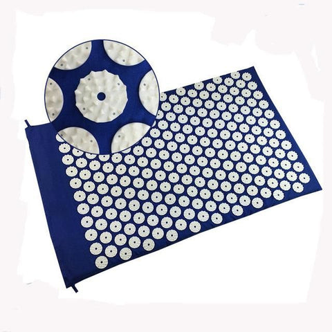DEEP-BLUE ACUPRESSURE YOGA MAT - 8mm - Badass Yoga Gear