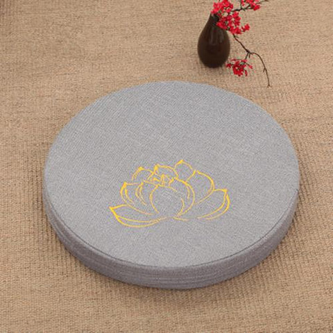 GRAY LOTUS MEDITATION CUSHION - Badass Yoga Gear
