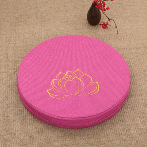ROSE-RED LOTUS MEDITATION CUSHION - Badass Yoga Gear