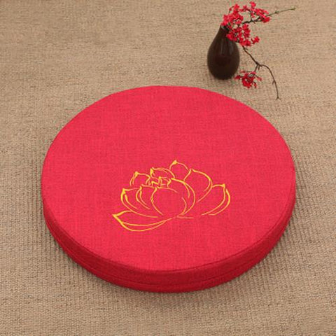 SCARLET LOTUS MEDITATION CUSHION - Badass Yoga Gear