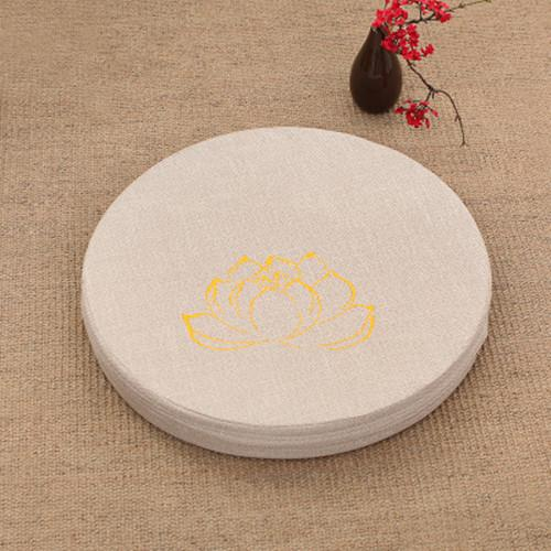 BEIGE LOTUS MEDITATION CUSHION - Badass Yoga Gear