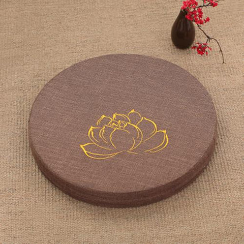 CHOCOLATE LOTUS MEDITATION CUSHION - Badass Yoga Gear