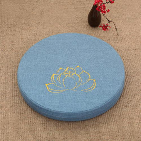 AZURE LOTUS MEDITATION CUSHION - Badass Yoga Gear