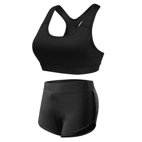 JET-BLACK SPORT SUIT - Badass Yoga Gear