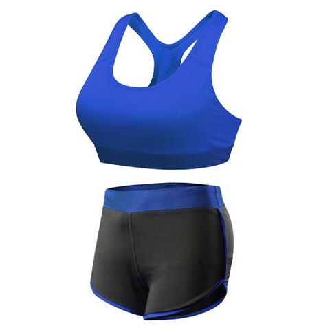 BLUE & BLACK YOGA SUIT - Badass Yoga Gear
